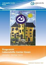 Programm Lebenshilfe Center Essen - Lebenshilfe Essen