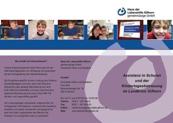 Assistenz in Schulen und der Kindertagesbetreuung im Landkreis ...