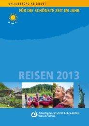 Reisekatalog 2013 - Die Lebenshilfe Peine-Burgdorf GmbH