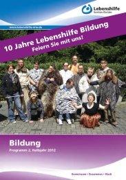 10 Jahre Lebenshilfe Bildung - Lebenshilfe NRW