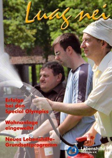 Erfolge bei den Special Olympics - bei der Lebenshilfe Ostallgäu eV