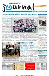 50 Jahre Lebenshilfe im Kreis Mettmann - Lebenshilfe NRW