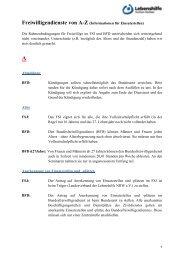 Freiwilligendienst von A bis Z für Einsatzstellen - Lebenshilfe NRW