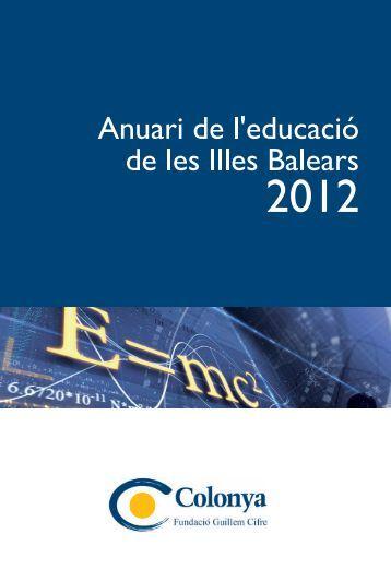 anuari educació 2012.indd - Biblioteca Digital de les Illes Balears ...