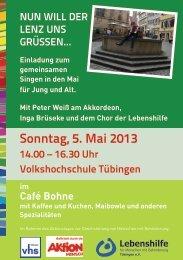 sonntag, 5. Mai 2013 - Lebenshilfe Tübingen