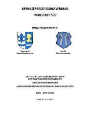 Abwasserbeseitigungsverband Ingolstadt-Süd mit Sitz in