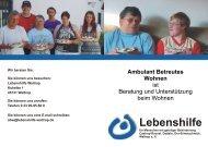 Ambulant Betreutes Wohnen - Lebenshilfe Waltrop
