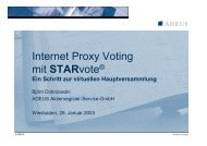 Internet Proxy Voting mit Starvote® - bei ADEUS