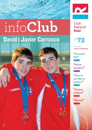 Revista InfoClub Nº 73 Març 2013 - Club Natació Rubí