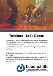 Tanzkurs Let's Dance - Lebenshilfe Waltrop