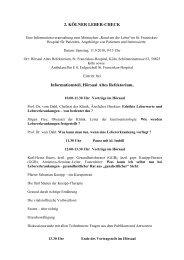 2. KÖLNER LEBER-CHECK Informationsteil, Hörsaal Altes ...