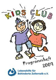 Programmheft 2009 - Lebenshilfe Zollernalb