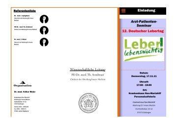 Arzt-Patienten - Deutsche Leberhilfe eV