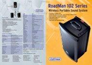 RoadMan 102 Series Wireless Portable Sound System ... - Adam Hall