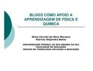 blogs como apoio a aprendizagem de física e química - Unifap