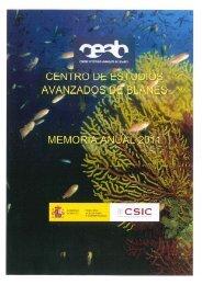 Memoria CEAB 2011 - CEAB - Consejo Superior de Investigaciones ...