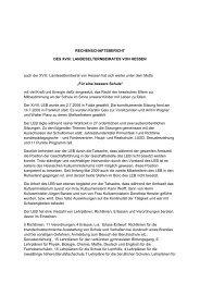 Rechenschaftsbericht des XVIII. LEB - Landeselternbeirat von Hessen