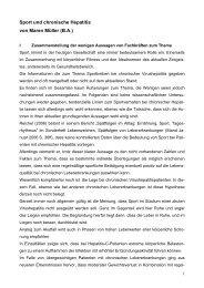Sport und chronische Hepatitis von Maren Müller (B.A.) - Deutsche ...