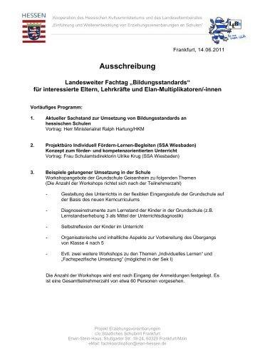 Ausschreibung - Landeselternbeirat von Hessen