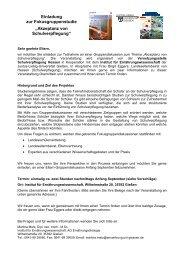 """Einladung zur Fokusgruppenstudie """"Akzeptanz von Schulverpflegung"""""""