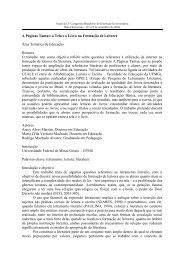 A Páginas Tantas: a Tela e o Livro na Formação de Leitores ... - UFMG