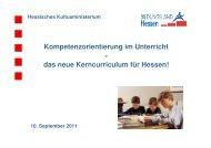 Kompetenzorientierung im Unterricht das neue Kerncurriculum für ...