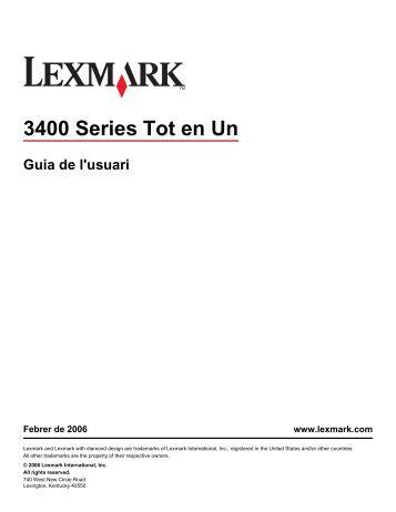 Guia de l'usuari - Lexmark