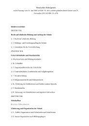 Hessisches Schulgesetz Stand November 2011 - GIB Hessen