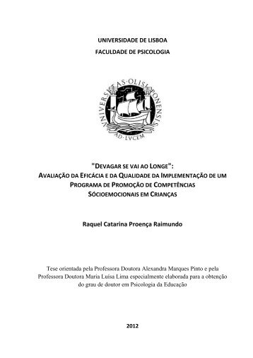 Raquel Catarina Proença Raimundo - Repositório da Universidade ...