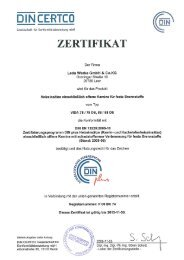 VIDA DINplus Zertifikat (PDF, 691 kB) - Leda