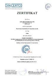 ONDA DINplus Zertifikat - Leda