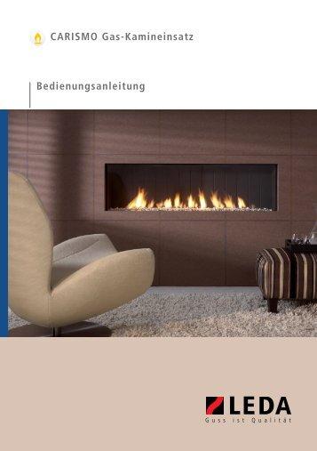 Bedienungsanleitung CARISMO Gas-Kamineinsatz - Leda