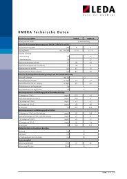 UMBRA Technische Daten (PDF, 419 kB) - Leda