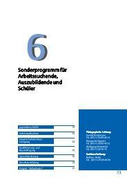 Sonderprogramm für Auszubildende und ... - Leine VHS