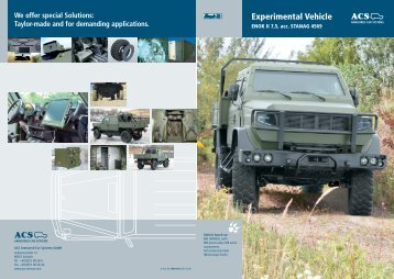 We offer special Solutions - Armoured Car Systems GmbH