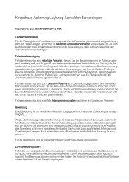 Informationen zur Bewerbung - in Leinfelden-Echterdingen