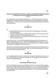 Satzung zur Begrenzung der Miethöhe bei öffentlich geförderten ...