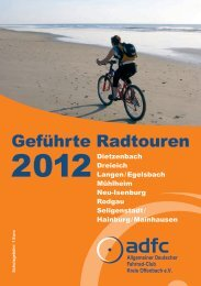 ADFC Neu-Isenburg Tourenprogramm 2012 - ADFC Dreieich