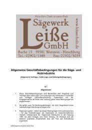 AGB der Sägeindustrie - leisse-holz.de