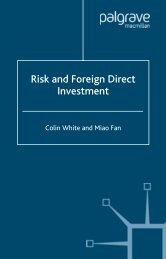 Risk and Foreign Direct Investment - Index of