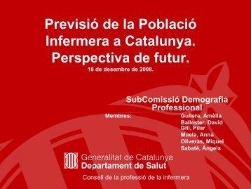 Previsió de la població infermera a Catalunya. - Consorci de Salut i ...