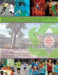 to download Guide - Michael-Ann Russell Jewish Community Center