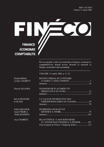 Download Volume 15 - Faculté des sciences de l'administration ...