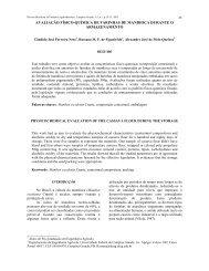 avaliação físico-química de farinhas de mandioca durante