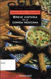 BREVE HISTORIA COMIDA MEXICANA