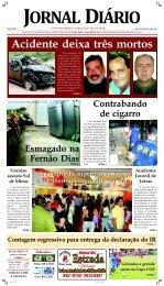 Acidente deixa três mortos - Jornal Diário.com