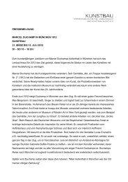 Pressemitteilung - Lenbachhaus