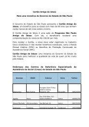 Endereços Creas 2013 - Secretaria de Desenvolvimento Social ...