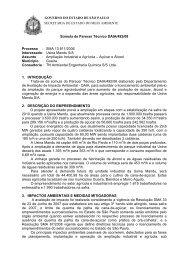 Súmula de Parecer Técnico CPRN/DAIA /2008 - Secretaria do Meio ...