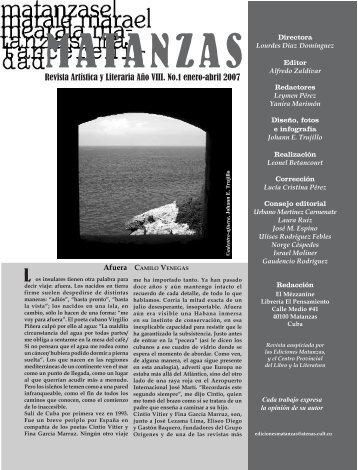 Revista Artística y Literaria Año VIII. No.1 enero-abril 2007 - Atenas
